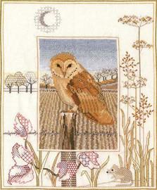Barn Owl Counted Cross Stitch Kit