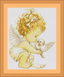 Angel With Dove Cross Stitch Kit By Luca S