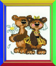 Masha And Misha Cross Stitch Kit By Riolis