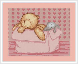 Baby Bear Girl Cross Stitch Kit By Luca S