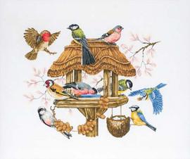 Bird Table Cross Stitch Kit