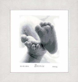 Baby Feet Cross Stitch Kit By Vervaco