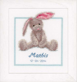 Cute Bunny Cross Stitch Kit By Vervaco