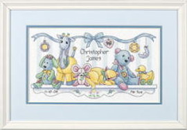 Babys Friends Birth Record Cross Stitch Kit