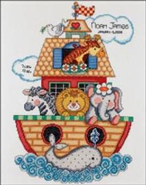 Noahs Ark Birth Sampler  Bucilla Cross Stitch Kit