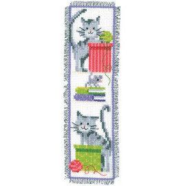 Cat And Wool Bookmark Cross Stitch Kit