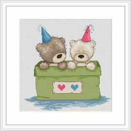 Bears In A Box Cross Stitch Kit By Luca S