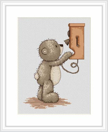 Bruno Makes A Call Cross Stitch Kit By Luca S