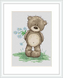 Bruno Says I Love You Cross Stitch Kit By Luca S