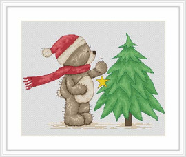 Time For Bruno To Decorate The Tree Cross Stitch Kit By Luca S