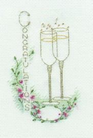 Congratulations Card Cross Stitch Kit