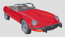 Jaguar E Type Roadster Cross Stitch Kit By Stitchtastic