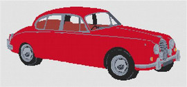 Jaguar Mark 2 Cross Stitch Kit By Stitchtastic