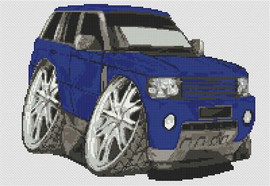 Range Rover Sport Caricature Cross Stitch Kit By Stitchtastic