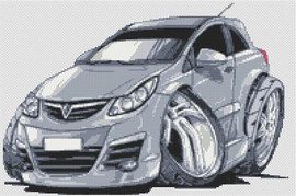 Vauxhall Corsa Cross Stitch Chart By Stitchtastic