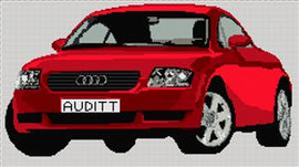 Audi Tt Cross Stitch Kit