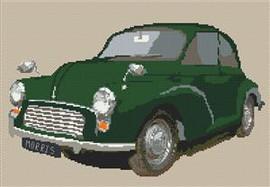 Morris Minor Car Cross Stitch Kit