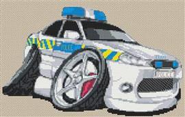 Mondeo Police Car Cross Stitch Kit