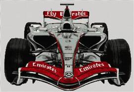 Formula 1 F1 Mclaren Cross Stitch Kit