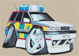 Volvo Police Car Cross Stitch Kit