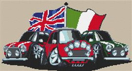 Old Style Mini Italian Job Cross Stitch Kit