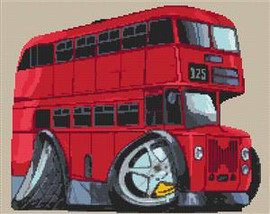 Routemaster Bus Cross Stitch Kit