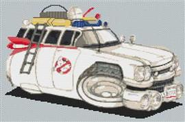 Ghostbusters Cadillac Cross Stitch Kit