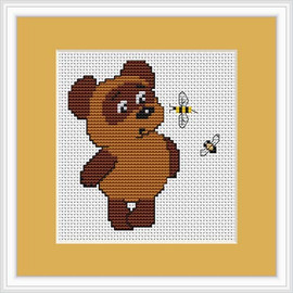 Bear & Bee Mini Cross Stitch Kit By Luca S