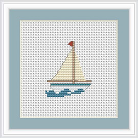 Boat Mini Cross Stitch Kit By Luca S