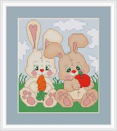Bunnies Cross Stitch Kit By Luca S