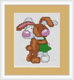 Bunnies Mini Cross Stitch Kit By Luca S