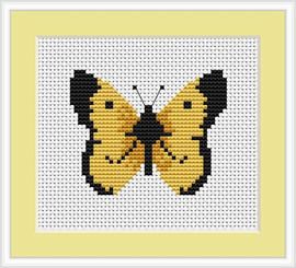 Butterfly Mini Cross Stitch Kit By Luca S