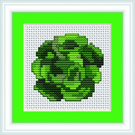 Cabbage Mini Cross Stitch Kit By Luca S