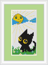Cat Day Mini Cross Stitch Kit By Luca S