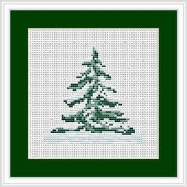 Christmas Tree  Mini Cross Stitch Kit By Luca S