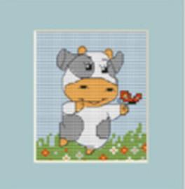 Cow Mini Cross Stitch Kit By Luca S