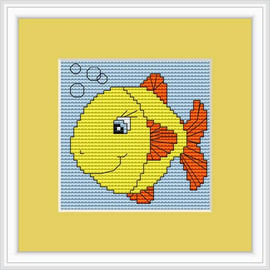 Fish Mini Cross Stitch Kit By Luca S