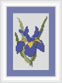 Iris Mini Cross Stitch Kit By Luca S
