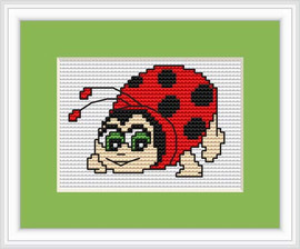 Lady Bird Mini Cross Stitch Kit By Luca S
