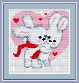 Love Bunnies Cross Stitch Kit By Luca S