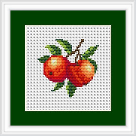 Peach Mini Cross Stitch Kit By Luca S