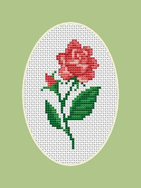 Rose Flower Mini Cross Stitch Kit By Luca S