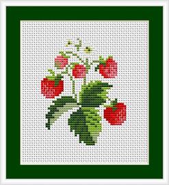 Strawberries Mini Cross Stitch Kit By Luca S