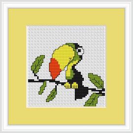 Toucan Mini Cross Stitch Kit By Luca S