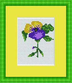 Violet Mini Cross Stitch Kit By Luca S