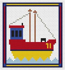 Sew Simple Fishing Boat Cross Stitch Kit