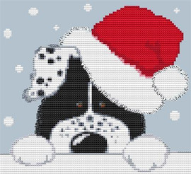 Christmas Dog Cross Stitch Kit By Stitchtastic
