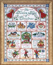 12 Days Of Christmas Cross Stitch Kit By Design Works