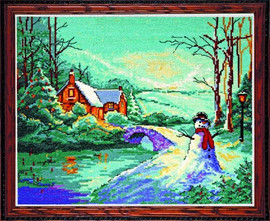 Winter Cottage Cross Stitch Kit By Design Works