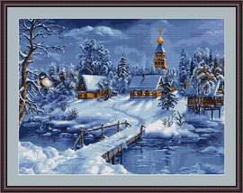 Winter Landscape Cross Stitch Kit By Luca S